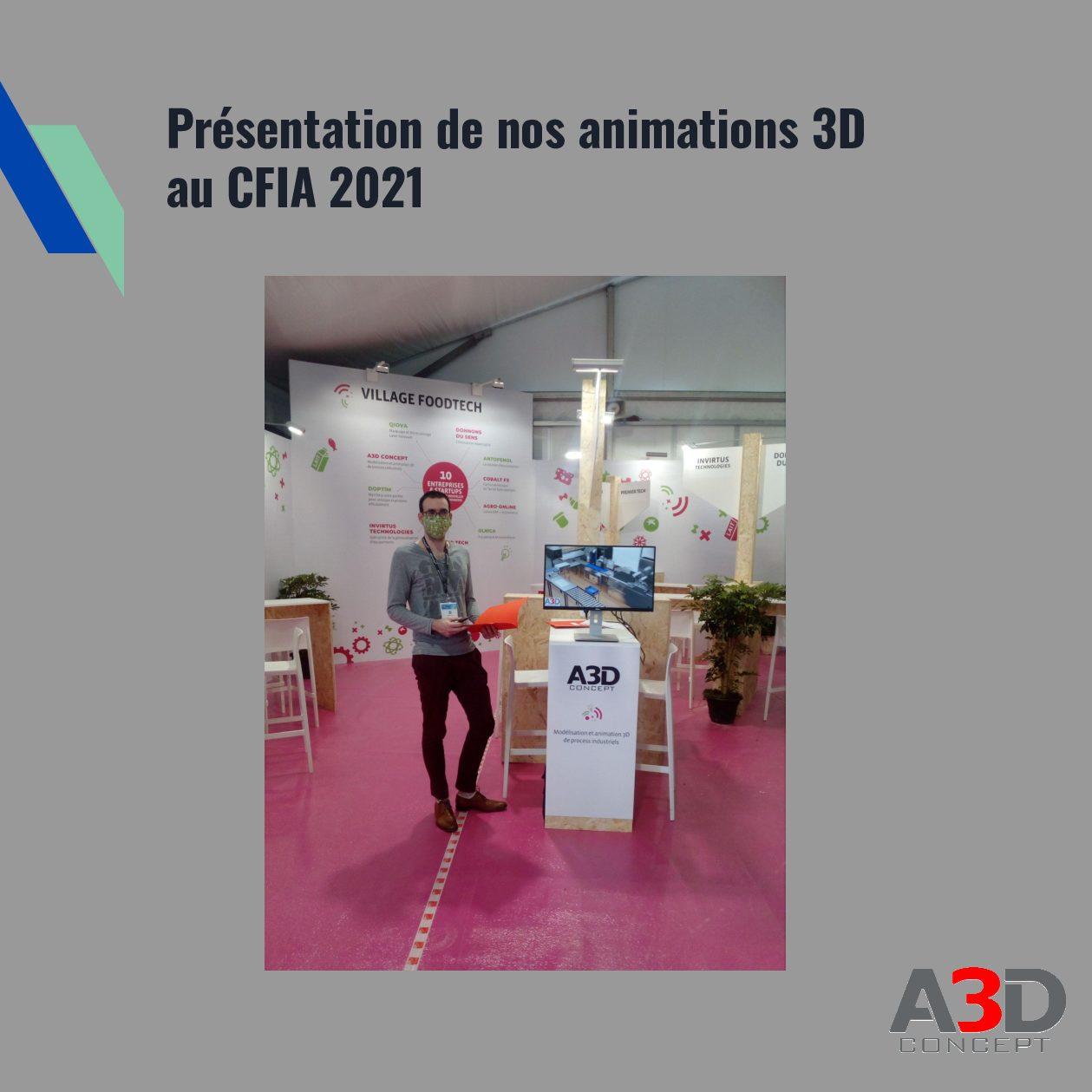 Présentation animations 3D au CFIA 2021